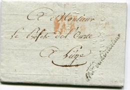 Franchise Sénéchal N°1569 M Tre De L´intérieur Sur LAC Du 03/03/1805 Pour LIEGE Signée Du Ministre CHAMPIGNY - 1801-1848: Precursors XIX