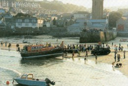 Postcard - St. Ives Lifeboat & Lifeboat Stations, Cornwall. S/95/20 - Ships