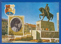Rumänien; Maximumcarte; Mihai Viteazul; Cluj 1980 - Maximumkarten (MC)