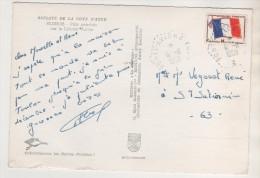 MILITARIA CACHETS  DU PORTE AVIONS FOCH DE 1968 SUR TIMBRE FM DRAPEAU - CARTE LITTORAL VAROIS - VOIR LES SCANNERS - Boten