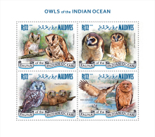 mld14308a Maldives 2014 Birds Owl s/s