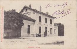 HAUTE MARNE - POISSONS - La Gare  ( - Carte Pionnière Avec Timbre à Date De 1905 ) - Poissons