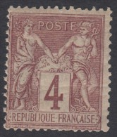 N° 88 - X - ( Dents Courtes ) - 1876-1898 Sage (Type II)