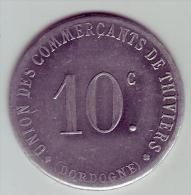 Monnaie De Nécessité - 24 - Thiviers - Union Des Commerçants. 1917 - 10c - - Monetary / Of Necessity