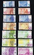"""EURO-Spielgeld """"GOKI"""", 5 - 500 Euro, Size 60 X 30 Bis 80 X 40 Mm, RRRRR, Used, Gebr., Play Money - EURO"""