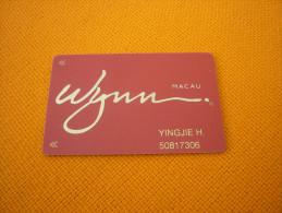 Macau Macao - Wynn Casino slot magnetic player�s card