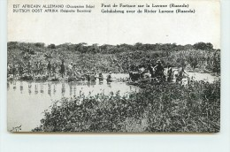 EST AFRICAIN ALLEMAND (occupation Belge) - Pont De Fortune Sur La Luvone (ruanda) - Rwanda