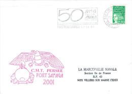 CMT PERSEE  PORT SAFAGA  CHASSEUR DE MINES  PARIS TRI INTERARMEES 5/11/01 - Marcophilie (Lettres)