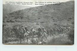 EST AFRICAIN ALLEMAND (occupation Belge) - Une Colonne En Marche Dans Le Ruanda. - Rwanda