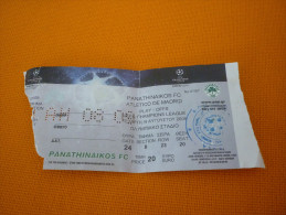 Panathinaikos-Atletico De Madrid UEFA Champions League Play-offs Football Match Ticket Stub 19/8/2009 - Tickets D'entrée