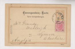 Entier Postal De 1895  Vers LYMM Grande-Bretagne - Entiers Postaux