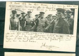 Le Salut Du Général Pershing, Commandant En Chef Des Troupes Américaines à La Terre De France   - Eas136 - Guerre 1914-18