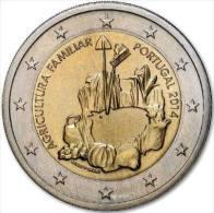 PORTUGAL - 2 € COM. 2014 UNC - INTERNATIONAAL JAAR VAN DE FAMILIEBOERDERIJ - Portugal