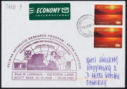 ANTARCTIC, BELGIA, Participation Expedition Victoria Land Scott Base 10.1.2001 !! RARE !!  611-26 - Antarctic Expeditions