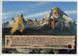 BERCHTESGADEN - König Watze, Watze, Sage - Gel. V. Teisendorf, 1966, Sondermarken - Contes, Fables & Légendes