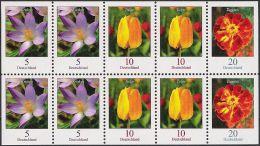 BRD 2007 Blumen Zusammendruck ZD Kleinbogen KB ** - Nuevos
