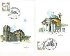 ITALIA - SERIE DI 10 CARTOLINE FDC - ACQUERELLI -  ANNO 1991  - EMESSE DA POSTE ITALIANE - 6. 1946-.. Repubblica