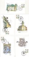 ITALIA - SERIE DI 20 CARTOLINE FDC - ACQUERELLI -  ANNO 1992  - EMESSE DA POSTE ITALIANE - 6. 1946-.. Repubblica