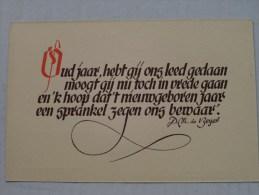 Nieuwjaarskaart N° 8 ( Liturgisch Volksapostolaat Steenbrugge ) Anno 19?? ( Zie Foto Voor Details ) - Nouvel An