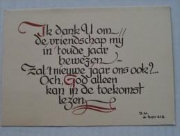 Nieuwjaarskaart N° 14 ( Liturgisch Volksapostolaat Steenbrugge ) Anno 19?? ( Zie Foto Voor Details ) - Nouvel An