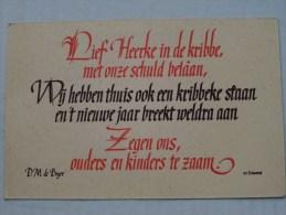 Nieuwjaarskaart N° 25 ( Liturgisch Volksapostolaat Steenbrugge ) Anno 19?? ( Zie Foto Voor Details ) - Nouvel An