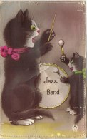 CARTE FANTAISIE CHATS MUSICALE JAZZ BAND - Phantasie