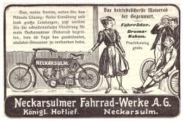 Original Werbung - 1906 - NSU , Motorrad , Neckarsulm , Moto , Motorräder !!! - Motorräder