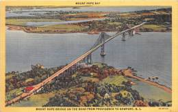 BF35984 Mount Hope Bay Newport R I Mount Hope Bridge On T  USA   Front/back Scan - Newport