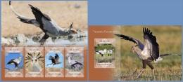 st14412ab S.Tome Principe 2014 Secretary bird 2 s/s