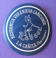 HOTEL ALBERGO RESIDENCIA LA CANIZA PONTEVEDRA SPAIN ETIQUETA LUGGAGE LABEL ETIQUETTE AUFKLEBER DECAL STICKER MADRID - Hotel Labels
