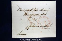 Nederland,Omslag Van Vlissingen Naar Schravendeel, Franco In Rood - Pays-Bas