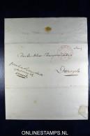 Complete Brief 1837 Generaal-majoor Provinciale Kommedant Van Groningen En Drenthe Aan Burg Dwingelo - Niederlande