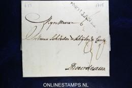 Nederland, Complete Vouwbrief  1778 Amsterdam Naar Bourdeaux   D'HOLLANDE In Zwart - ...-1852 Voorlopers