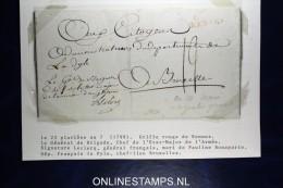 France: 1799 Lettre en-tete Arm�e d'Angleterre, Le Gen�ral Francais Lecclerq, Dep. La Dyle chef-lieu Bruxelles