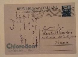 Cart. Postale Chlorodont Spedita  1953 - Pubblicitari