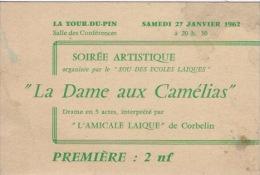 La Dame Aux Camélias à La Tour Du Pin 1962 - Tickets D'entrée