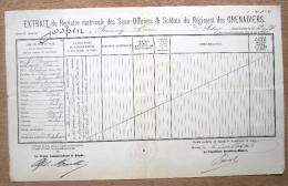 Régiment Des Grenadiers, Soldat Jospin Florimond, Né à Montignies Sur Roc En 1862 - Militaria