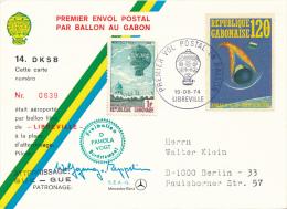 LIBREVILLE - 1974 , 1. Ballonpost - Gabun (1960-...)