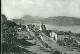 Flugzeugaufnahme Fliegeraufnahme Oberwil Bei Zug Sanatorium Franziskusheim See Sw 30.9.1964 - ZG Zoug