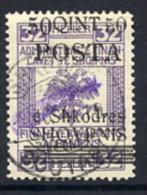 ALBANIA  1919 50 Q.. On 32 H.  With Straight Comet. Overprint , Used.. Michel 51 III - Albania