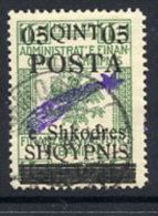ALBANIA  1919 05 Q.. On 16 H.  With Straight Comet. Overprint , Used.. Michel 48 III - Albania