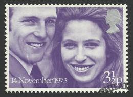 Great Britain, 3 1/2 P. 1973, Sc # 707, Mi # 637, Used - 1952-.... (Elizabeth II)