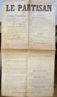 Affi. 1. Affichette, Le Partisan Bonsecours Et Péruwelz Organe Des Partisans Du Corps 70. 5 Septembre 1944 - 1939-45