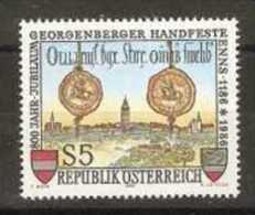 Austria - 1986 Georgenberg Treaty 5s MNH **          Sc 1357 - 1945-.... 2nd Republic