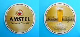 CROATIAN BEER COASTER - AMSTEL BEER * Beercoaster Bière Bier Cerveza Birra Mat Sous-bock Bierdeckel Bierviltje - Beer Mats