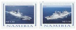 nam14106a Namibia 2014 China Navy's First Visit 2V Ship