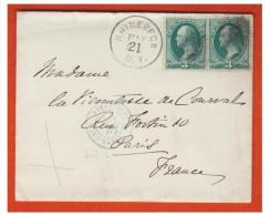 ETATS-UNIS ## LETTRE DE RHINEBECK (N.Y.) POUR PARIS ## POSTE MARITIME VOIE ANGLAISE 1879 - 1847-99 Unionsausgaben