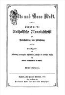 ALTE UND NEUE WELT KATHOLISCHE MONATSFCHRIFT 1870 - Christianisme