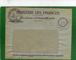 58 ,garchizy Près De Pougues Les Eaux, Enveloppe Et Document AVIS  Perception De POUGES  MINISTERE DES FINANCES - 1921-1960: Periodo Moderno