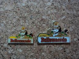 LOT DE 2 PINS PARC ATTRACTION BELLEWAERDE - Disney